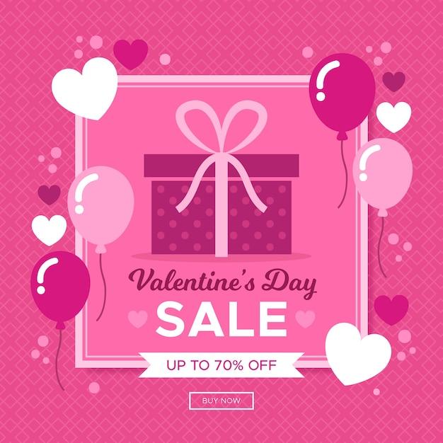 Распродажа на день святого валентина Бесплатные векторы