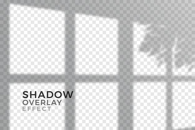 透明な影のオーバーレイ効果のデザイン 無料ベクター