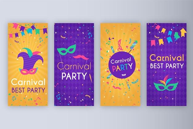 カーニバルパーティーストーリーコレクション 無料ベクター