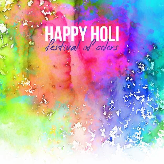 Счастливый холи фестиваль цветов с копией пространства Бесплатные векторы