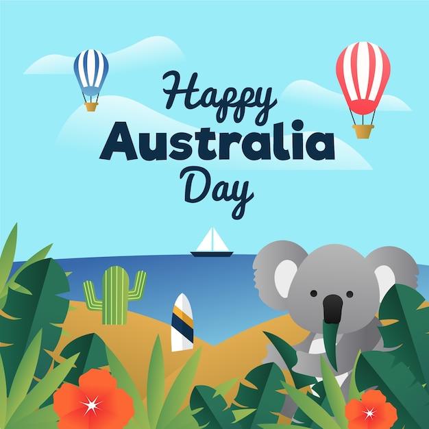 День австралии в плоском дизайне Бесплатные векторы