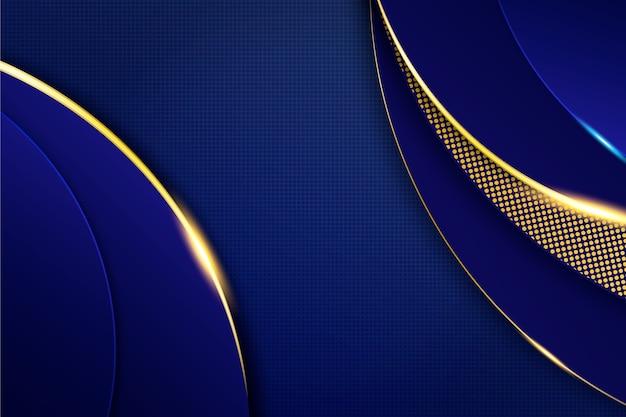 Темный фон с золотыми деталями Бесплатные векторы