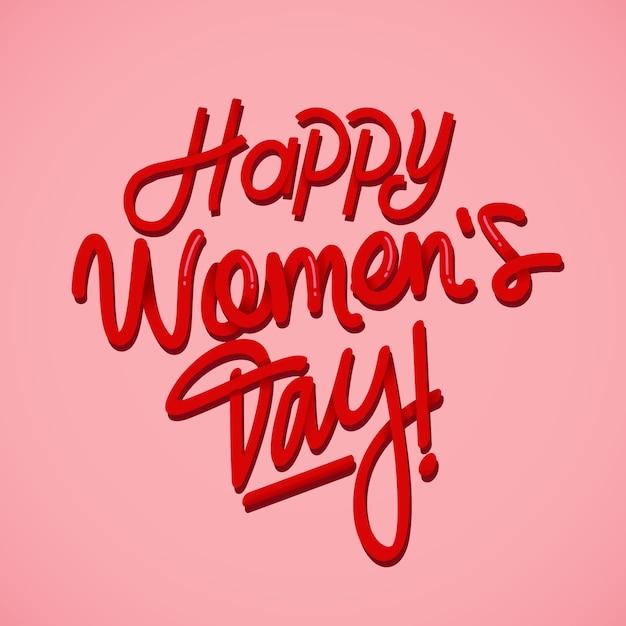 Концепция надписи на женский день Бесплатные векторы
