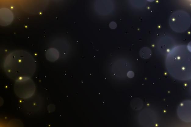Боке световой эффект на темном фоне темы Бесплатные векторы