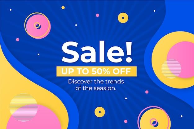 Абстрактный красочный фон продаж Бесплатные векторы
