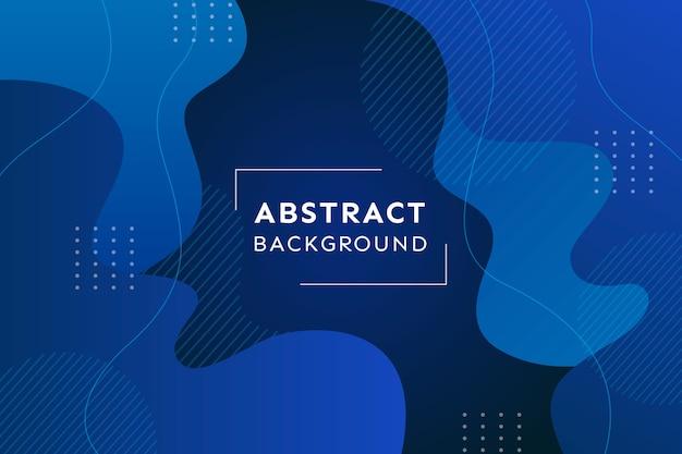 Абстрактный классический синий фон и эффект мемфиса Бесплатные векторы