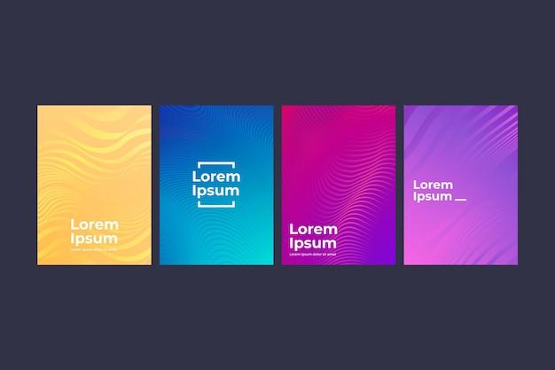 Коллекция различных красочных полутоновых градиентного покрытия Бесплатные векторы