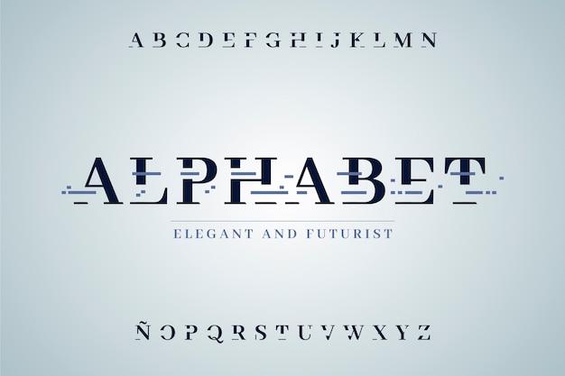 Абстрактный минимальный алфавит Бесплатные векторы