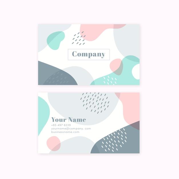 Минималистская визитная карточка пастельных тонов Бесплатные векторы
