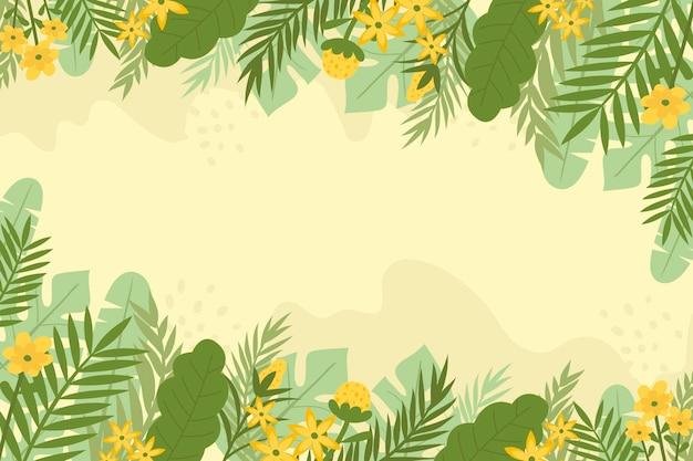 Абстрактный цветочный фон в плоском дизайне Бесплатные векторы