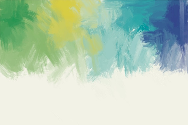 手描きのカラフルなパレットの背景 無料ベクター