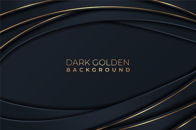 曲線のゴールデンラインの詳細背景 無料ベクター