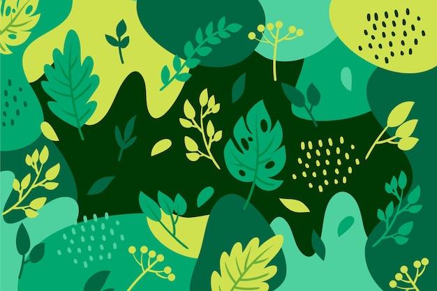 フラットなデザインで抽象的な花の背景 無料ベクター