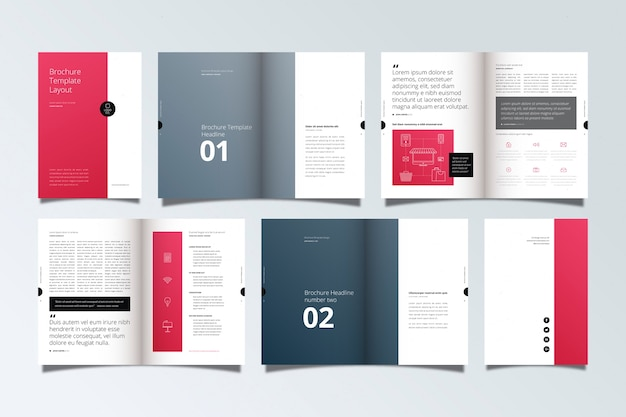 Макет шаблона брошюры Бесплатные векторы