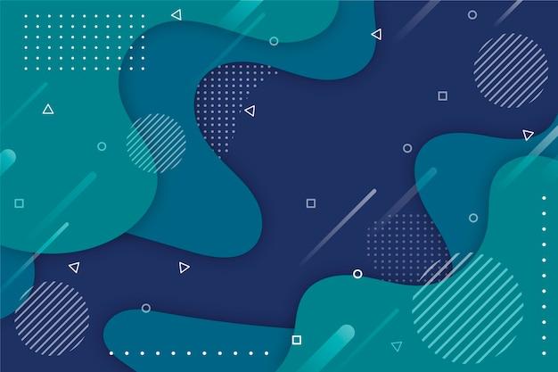 Классический синий фон с эффектом мемфиса Бесплатные векторы