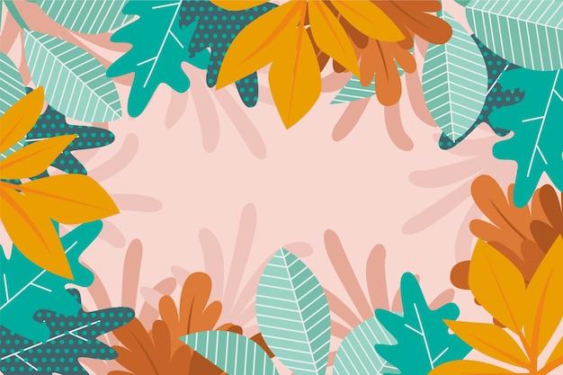 花の抽象的な壁紙 無料ベクター