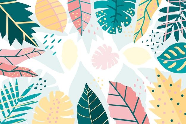 抽象的な花の背景 無料ベクター