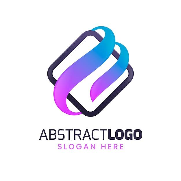 カラフルなグラデーションの抽象的なロゴ 無料ベクター