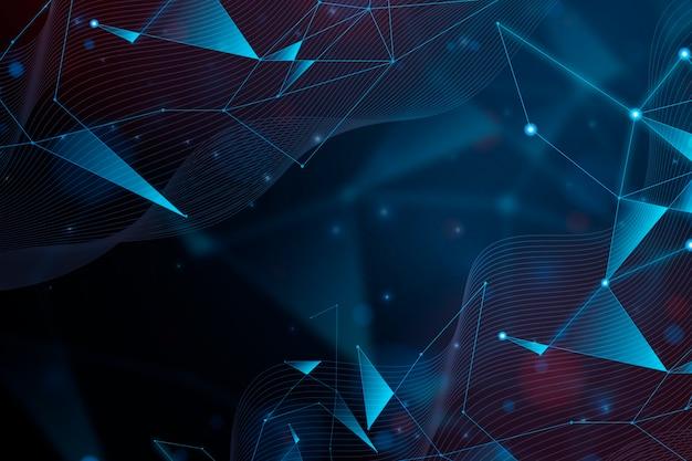 抽象的な現実的な技術粒子背景デザイン 無料ベクター
