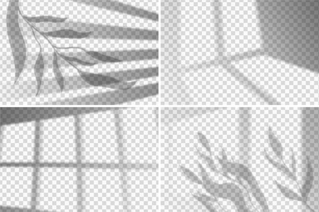 透明な影のオーバーレイ効果の概念 無料ベクター