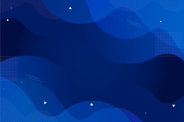 古典的な青い壁紙の抽象的なスタイル 無料ベクター