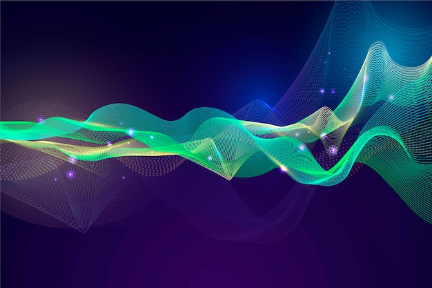 Красочный дизайн обоев волны эквалайзера Бесплатные векторы