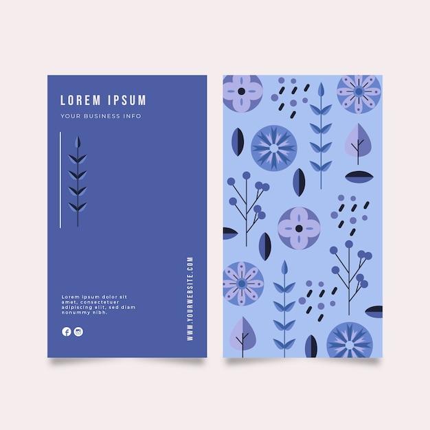 異なる植物を持つ会社のカード 無料ベクター