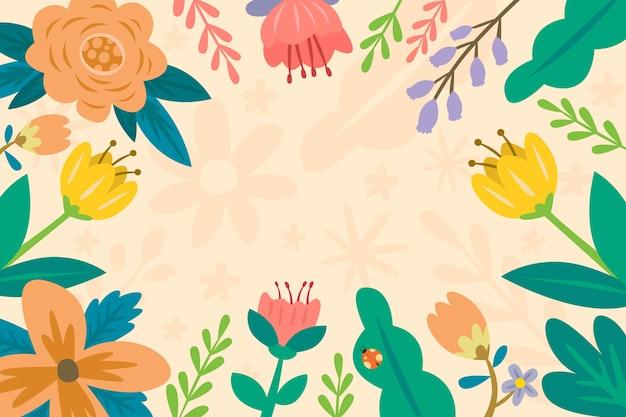 手描きの春の壁紙 無料ベクター