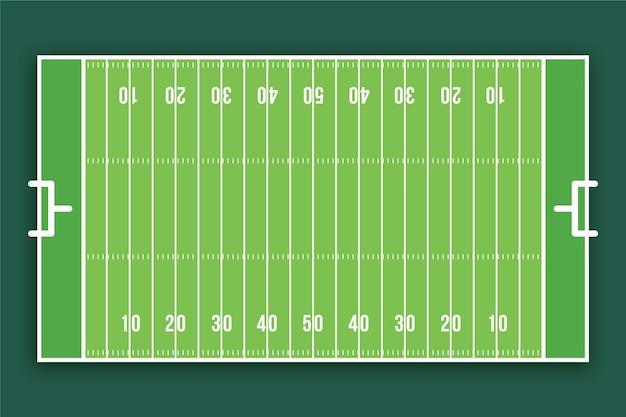 フラットなデザインのアメリカンフットボールフィールド 無料ベクター