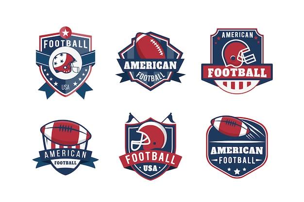 アメリカンフットボールバッジレトロなデザイン 無料ベクター