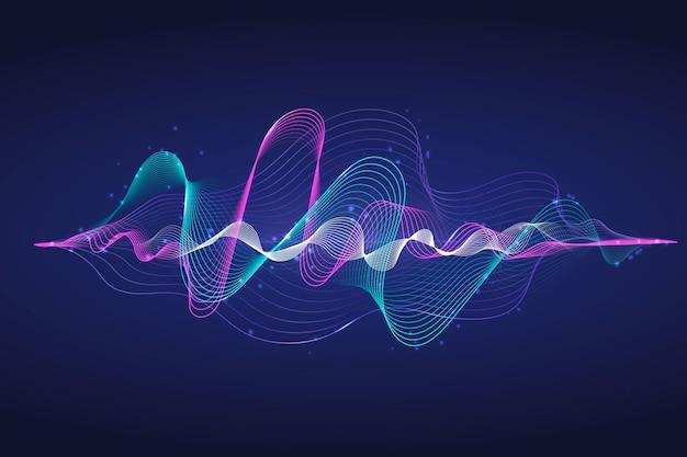 カラフルなイコライザー波の壁紙 無料ベクター