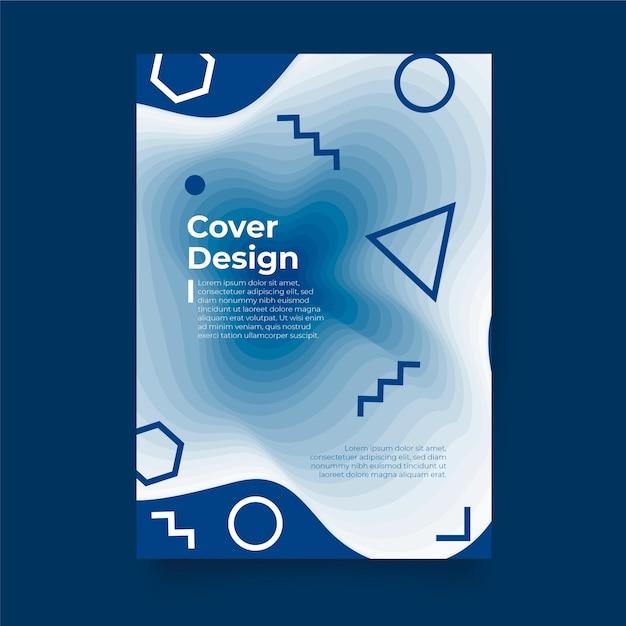 古典的な青いポスターテンプレート 無料ベクター