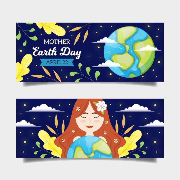 Рисунок дизайна коллекции дня матери земли Бесплатные векторы