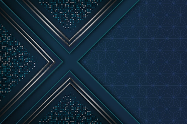 現実的なエレガントな幾何学的図形の背景 無料ベクター