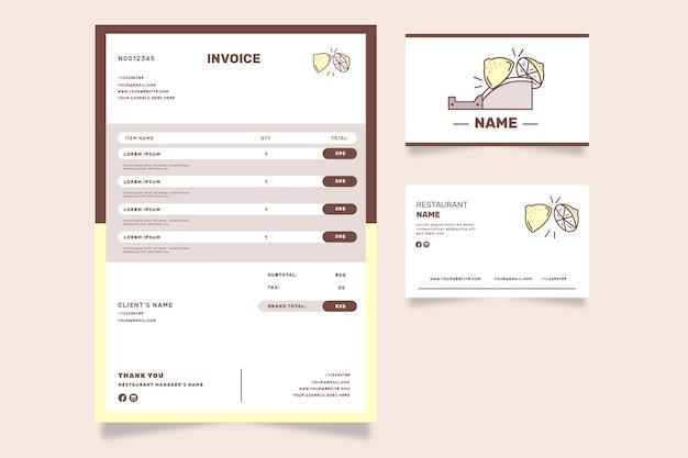 Шаблон счета магазина лимонад Бесплатные векторы