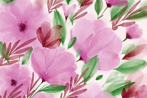 水彩春の壁紙 無料ベクター