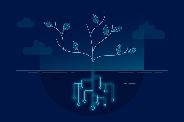 Экологическая концепция окружающей среды Бесплатные векторы