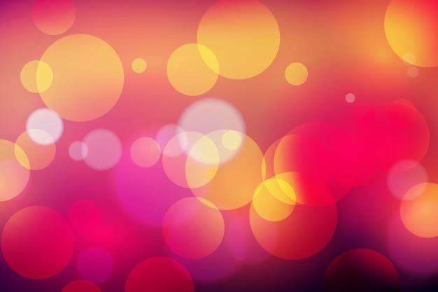 Боке световой эффект на темном фоне концепции Бесплатные векторы