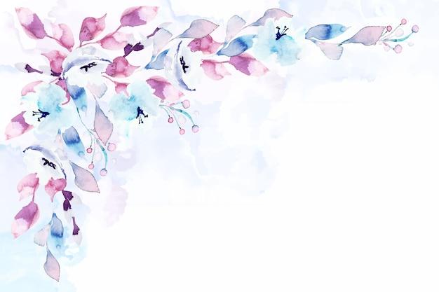 パステルカラーの水彩花のスクリーンセーバー 無料ベクター