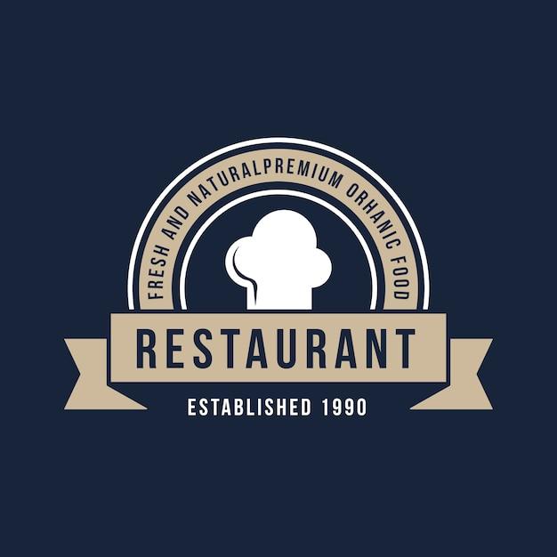 レトロなレストランのロゴ 無料ベクター