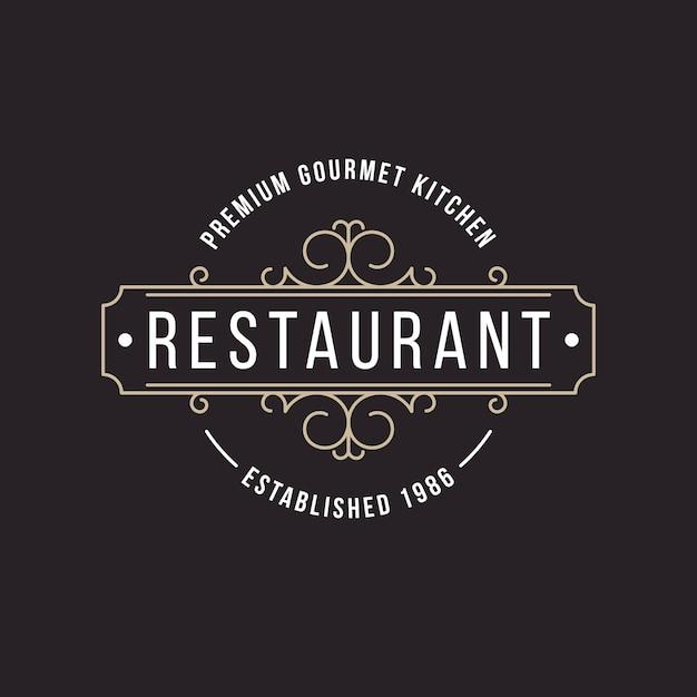 Ретро ресторан логотип Бесплатные векторы