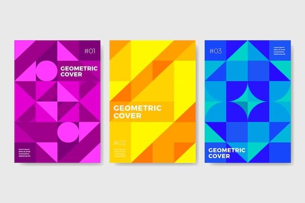 Коллекция абстрактных геометрических обложек Бесплатные векторы