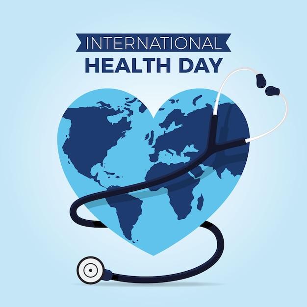 世界保健デーの壁紙 無料ベクター