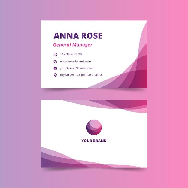 Визитная карточка генерального директора с абстрактным дизайном Бесплатные векторы