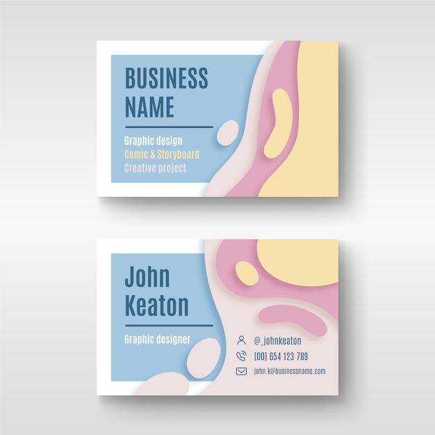 Визитная карточка абстрактного дизайна для графического дизайнера Бесплатные векторы