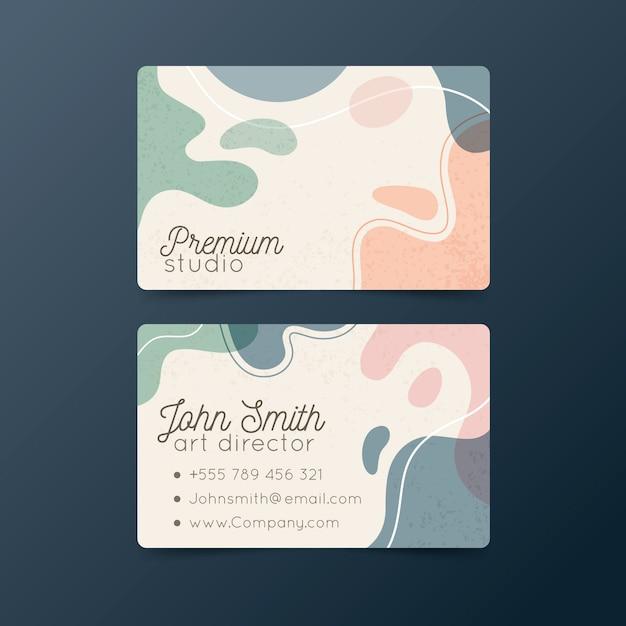 Абстрактная красочная визитная карточка Бесплатные векторы