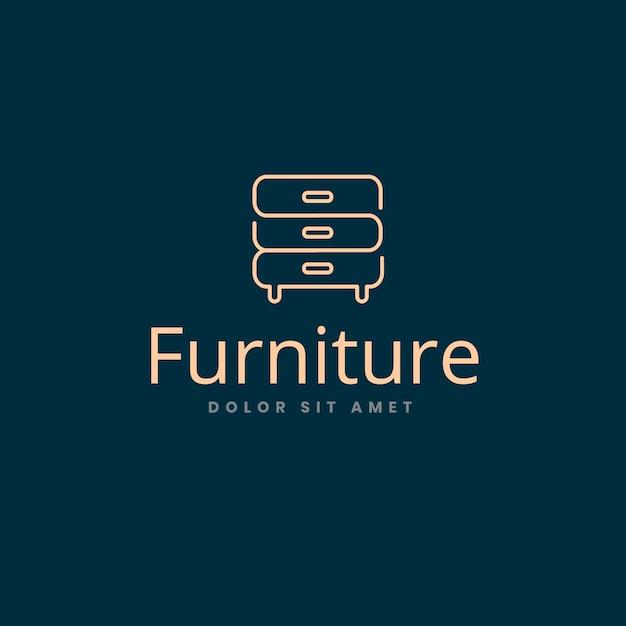 Элегантный дизайн для логотипа мебели Бесплатные векторы