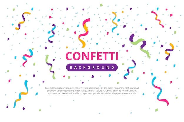 Ежегодный день рождения конфетти Бесплатные векторы