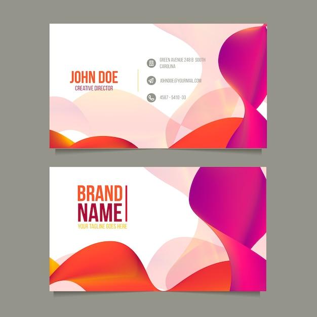 Оранжевый и фиолетовый шаблон визитной карточки Бесплатные векторы
