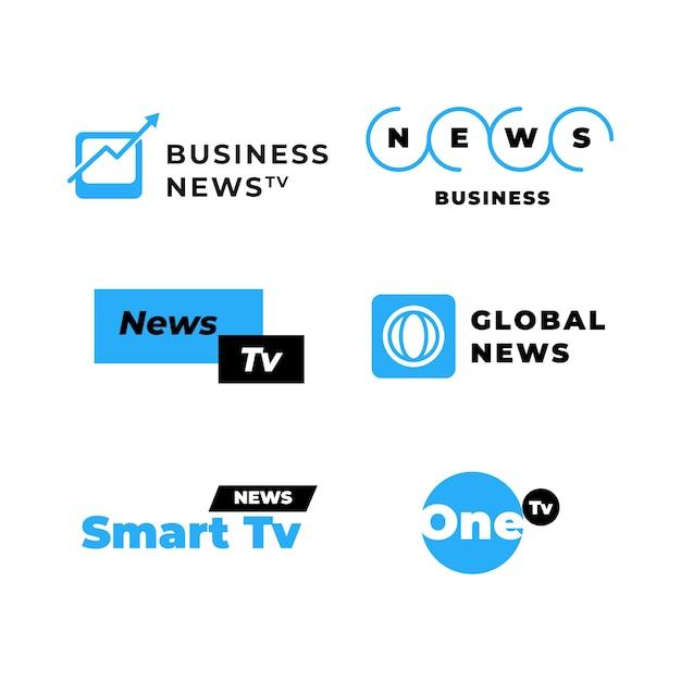 Коллекция новостных логотипов Бесплатные векторы